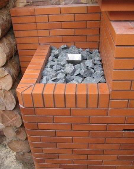 Кирпичная печь для бани или сауны