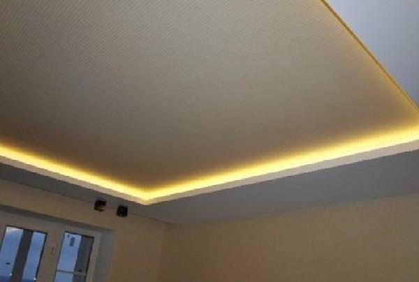 Освещения потолка по периметру лентой SMD 3528
