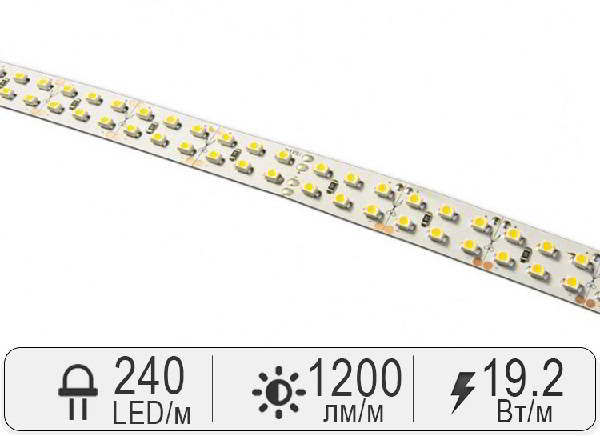 Светодиодная лента SMD 3528 из 240 светодиодов
