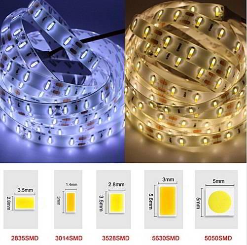 Вид и размеры светодиодов SMD 3528, 2835, 5050, 5630 и SMD 5730