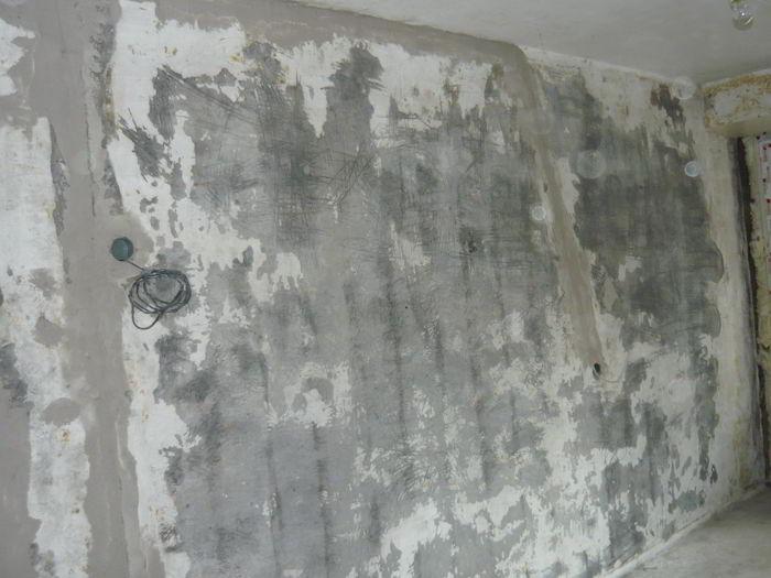замазанные штробы под провода