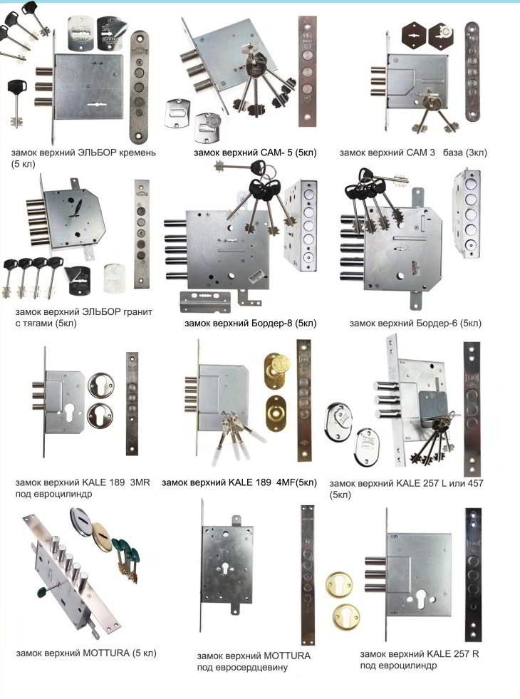 замки для входной металлической двери
